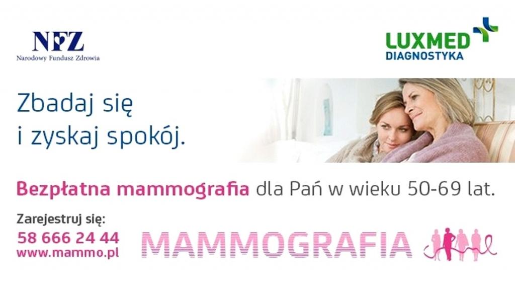 Bezpłatne badania mammograficzne w Wejherowie