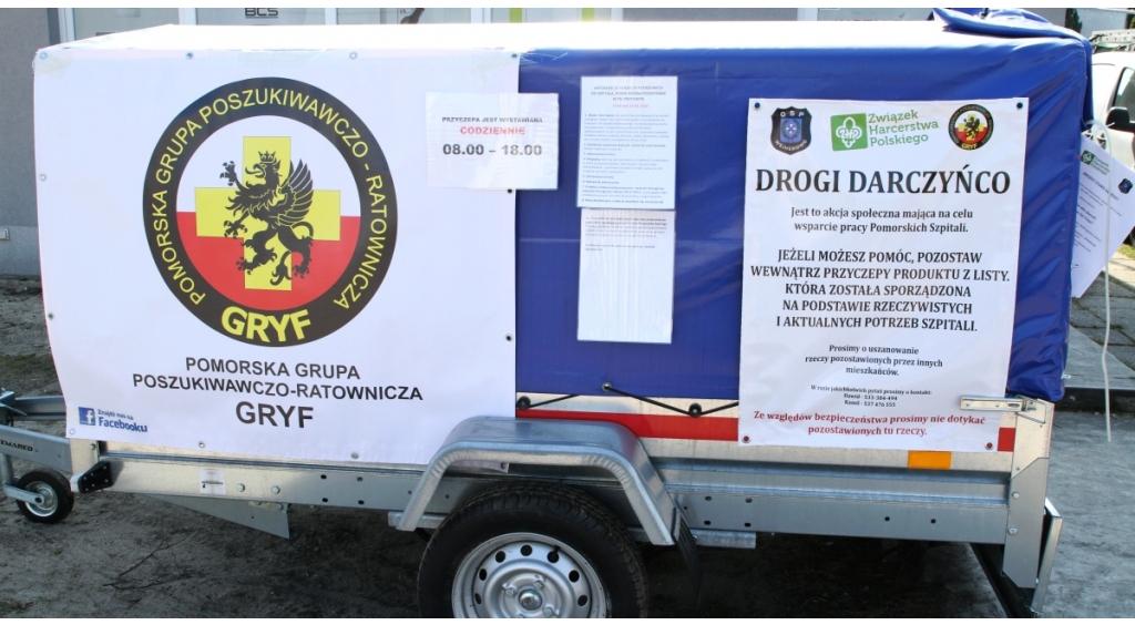 Społeczna zbiórka ratowników PGPR Gryf dla szpitali