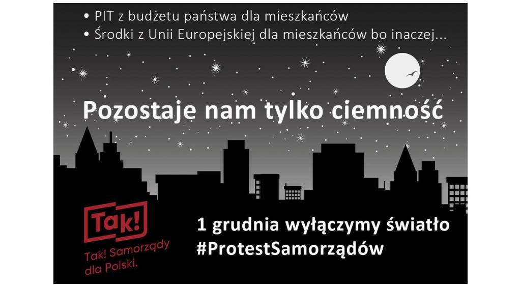 Protest samorządów #TylkoCiemność