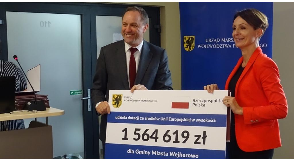 Prawie 1,8 mln zł dodatkowych środków z Unii Europejskiej dla wejherowskich projektów!