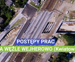 Postępy prac na węźle Wejherowo (Kwiatowa) - 15 lipca 2020