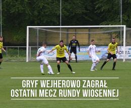 Gryf Wejherowo rozegrał ostatni mecz rundy wiosennej i podziękował sponsorom