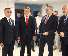 Odbiór stanu surowego Książnicy prof. G. Labudy