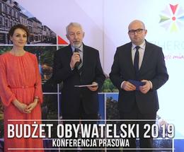 Konferencja prasowa w sprawie Budżetu Obywatelskiego 2019
