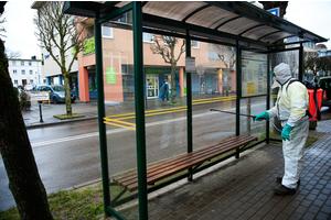 W Wejherowie odkażano przystanki