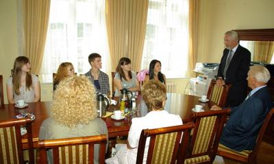 Wizyta w ratuszu  studentów Uniwersytetu Przykarpackiego z Iwano-Frankowska - 31.07.2012
