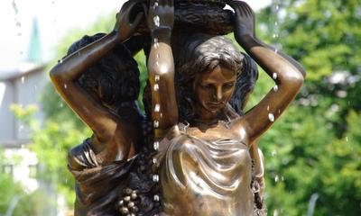 Nowa fontanna w Parku Miejskim w Wejherowie - 12.07.2012