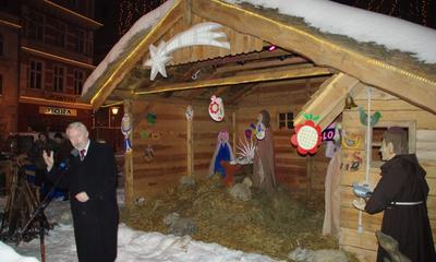 Otwarcie Szopki Bożonarodzeniowej na wejherowskim rynku. 19.12.2009
