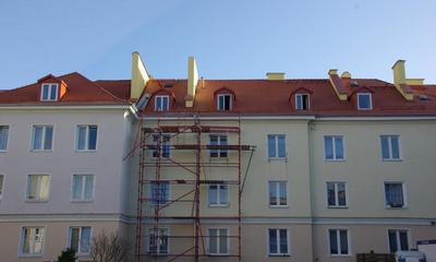 Odbiór elewacji w budynku 12 Marca i remontu dachu w budynku Pucka 20A 23-11-2009