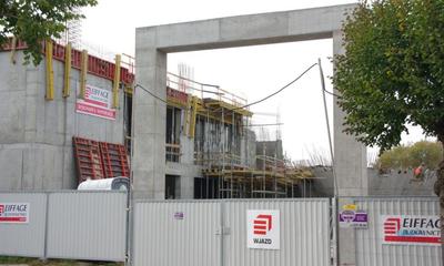 Na budowie nowego Centrum Kultury - 08.10.2010
