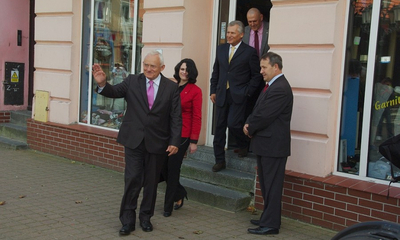 Wizyta  prezydenta Aleksandra Kwaśniewskiego i premiera Leszka MIllera w Wejherowie - 13.09.2011