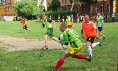 Mecz - finał  Wakacyjnej Wioski Tematycznej MOPS -09.08.2013