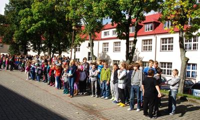 Ćwiczebna ewakuacja w Zespole Szkół nr 2 - 26.09.2013