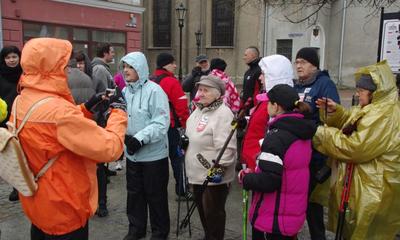 Rajd Nordic Walkingz okazji 67. rocznicy wyzowlenia Wejherowa - 10.03.2012