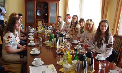 Wizyta delgacji z Uniwersytetu Przykarpackiego w Iwano-Frankowsku - 29.07.2014