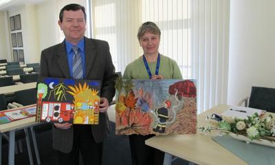 Konkurs plastyczny Strażak Zawsze Rękę Poda  03.03.2011
