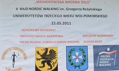 II Rajd Nordic Waking im. G. Rożyńskiego UTW Woj. Pomorskiego - 21-05-2011
