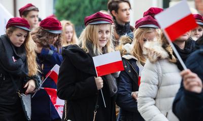 Biało-czerwona parada niepodległościowa  - 11.11.2015