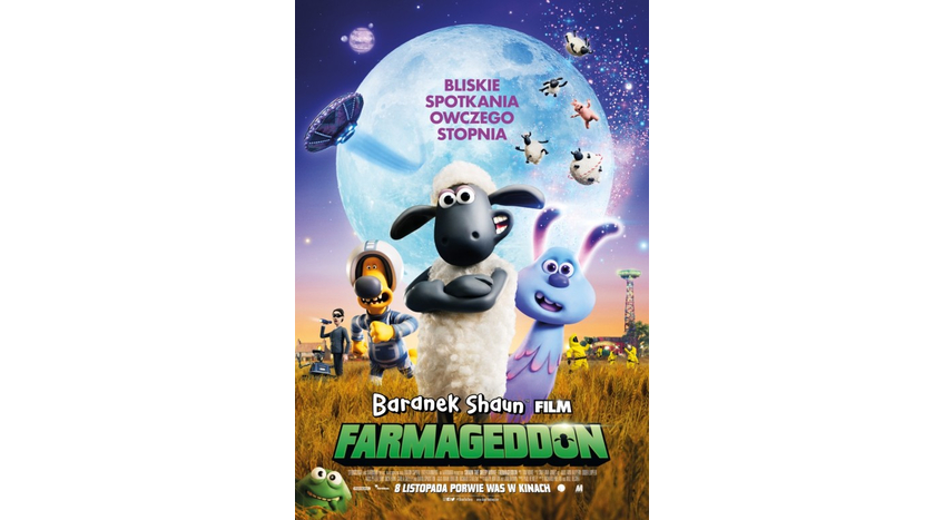 Baranek Shaun Film. Farmageddon 2D dubbing
