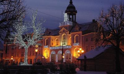 Iluminacje świąteczne na Wejherowskim Rynku