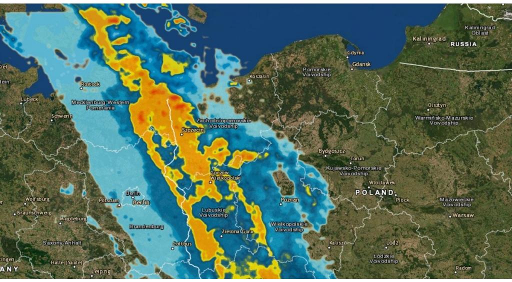 Ostrzeżenie o deszczu i burzach z gradem