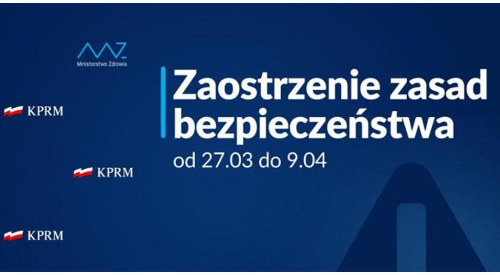 Rząd ogłosił kolejne obostrzenia od 27 marca