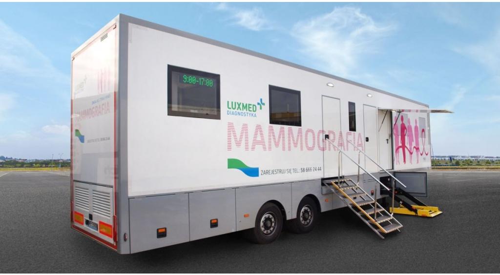 Do Wejherowa przyjeżdża mobilna pracownia mammograficzna