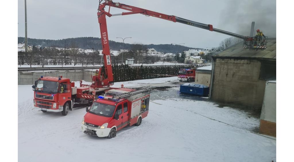 Pożar w MZK Wejherowo