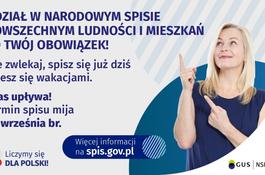 Udział w Narodowym Spisie Powszechnym ludności i mieszkań to Twój obowiązek!