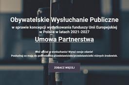 Wysłuchania publiczne w sprawie koncepcji nowego budżetu UE w Polsce!