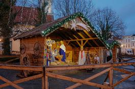 Szopka Bożonarodzeniowa tworzy nastrój Świąt