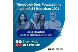 Już 1 kwietnia rozpoczyna się Narodowy Spis Powszechny Ludności i Mieszkań 2021!