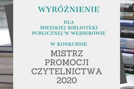 Wyróżnienie dla Miejskiej Biblioteki Publicznej w Wejherowie