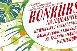 Konkurs na najładniej ukwiecony i zazieleniony balkon, okno lub ogród na terenie miasta Wejherowa