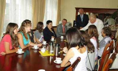 Wizyta studentek Przykarpackiego Uniwersytetu w Iwano-Frankiwsku - 02.08.2011