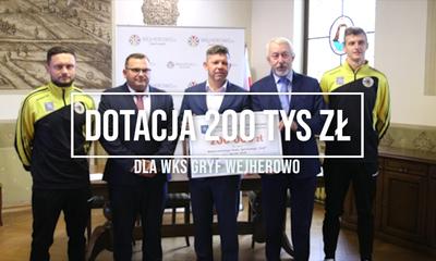 200 tys zł dla WKS Gryf Wejherowo