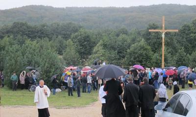 Poświęcenie miejsca pod budowę nowego kościoła na Śmiechowie - 14.09.2011