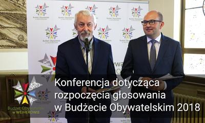 Konferencja dotycząca głosowania w Wejherowskim Budżecie Obywatelskim 2018
