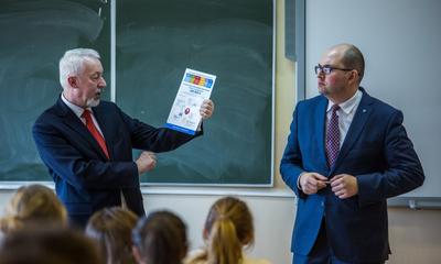 Prezydent Krzysztof Hildebrandt spotyka się z młodzieżą - 25-26.02.2015