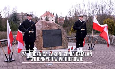 74. rocznica zakończenia działań wojennych w Wejherowie