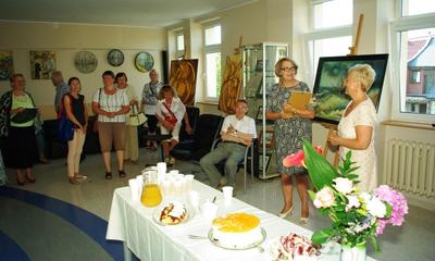 Wystawa malarstwa Longiny Wysockiej w bibliotece - 24.07.2014