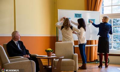 Gimnazjaliści spotkali się z prezydentem Krzysztofem Hildebrandtem - 12.02.2014