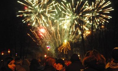 Powitanie Nowego 2013 Roku w Parku Miejskim - 31.12.2012