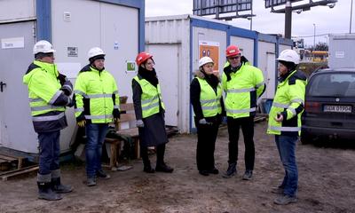 Spotkanie w sprawie bezpieczeństwa na placu budowy Węzła Wejherowo