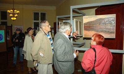 Wystawa w ratuszu Międzynarodowego Pleneru Marynistów - Czymanowo 2011 - 07.10.2011