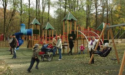 Nowy plac zabaw w Parku Miejskim - 25.10.2010