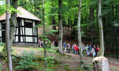 Turyści z Łodzi na Kalwarii Wejherowskiej Fot. L. Spigarski - 13.07.2012