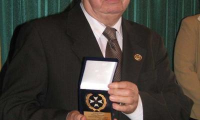 Medal Róży dla Starszego wejherowskiego Cechu Brunona Gajewskiego