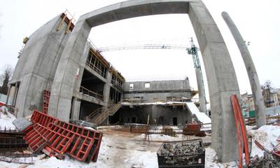 Na budowie Filharmonii Kaszubskiej - 11.01.2011