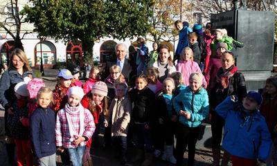 Wizyta w ratuszu dzieci Społecznej SP nr 1 w Wejherowie - 25.10.2013
